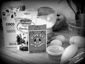 Ingredientes magdalenas chocolate y platano, muffins sin azúcar, muffins chocolate, magdalenas plátano