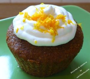 Cupcake de zanahoria, bizcocho de zanahoria, tarta de zanahoria, receta tarta de zanahoria, magdalena de zanahoria, recetas para niños, blog repostería, recetas de repostería