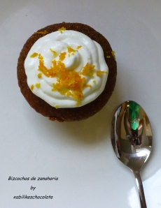 Cupcakes de zanahoria, bizcocho de zanahoria, tarta de zanahoria, receta tarta de zanahoria, magdalena de zanahoria, recetas para niños, blog repostería, recetas de repostería
