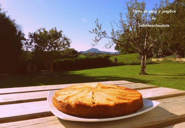 Tarta de pera y gengibre, pastel de pera y jengibre, tarta de fruta, bizcocho de pera y jengibre, recetas para niños, receta tarta de pera, receta jengibre, receta pera, blog de repostería
