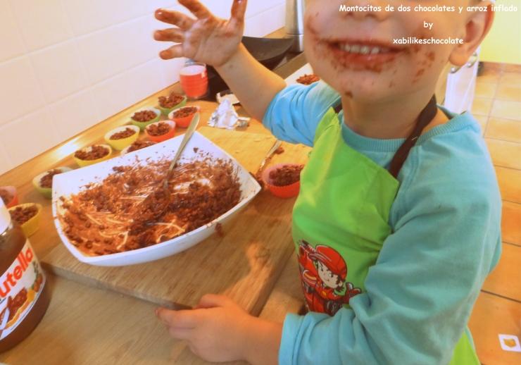 Tortitas de chocolate y arroz inflado, recetas para hacer con niños