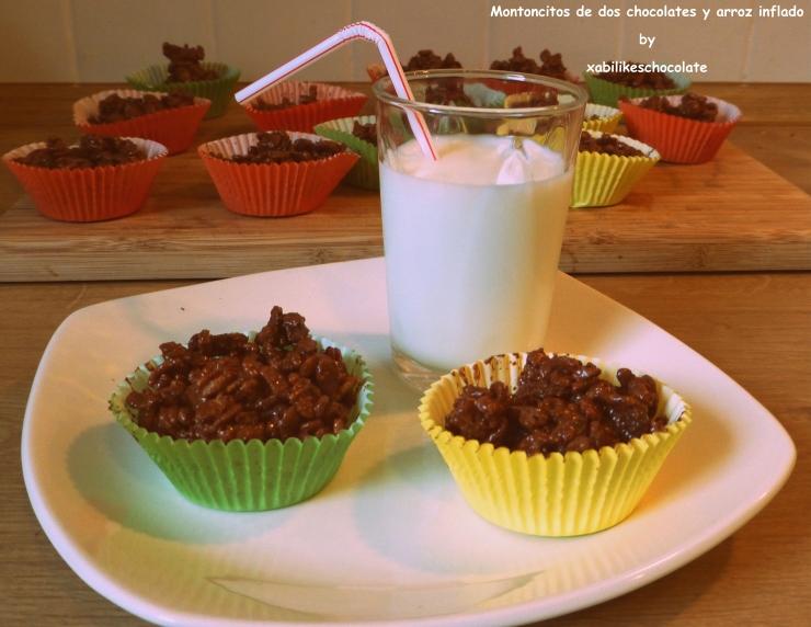 Tortitas de chocolate y arroz inflado, recetas para hacer con niños, receta niños, receta chocolate, blog reposteria