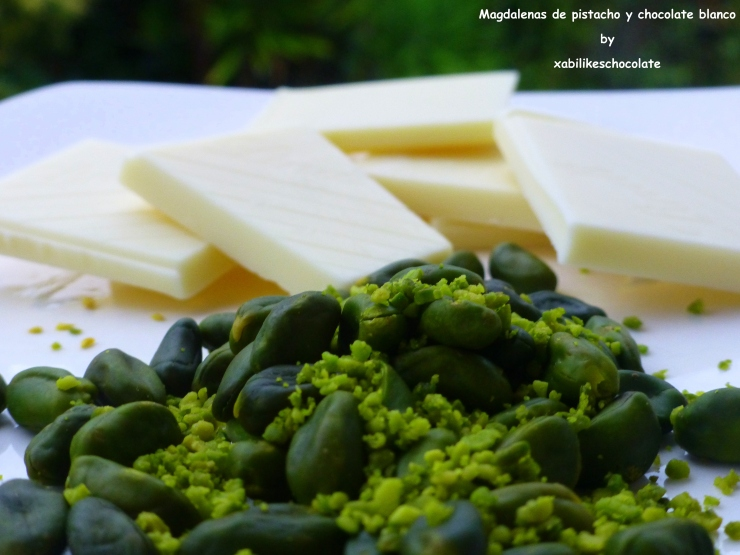 Receta pistachos y chocolate blanco