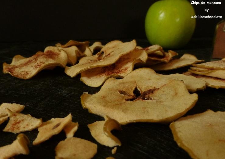 Chips de manzana y canela, chips de manzana, laminas de manzana, receta de manzana y canela, recetas sanas, picoteo saludable, blog de reposteria