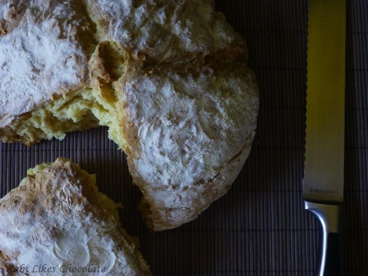 Pan fácil, Pan de soda irlandes, pan tradicional irlandés, pan rápido, pan sin levadura