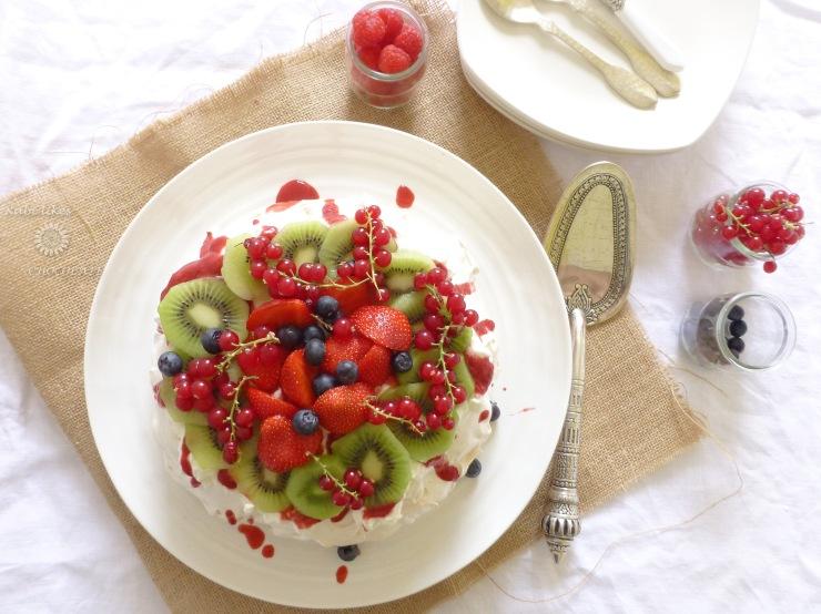 Pavlova de frutos rojos