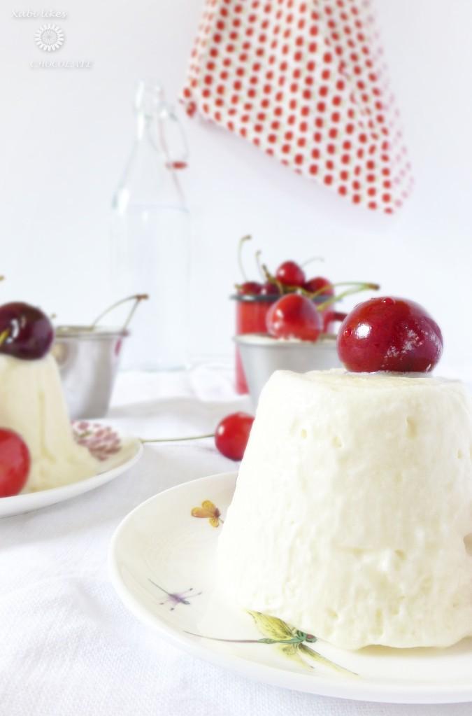 Helado fácil, Helado sin heladera, semifrío, semifreddo, helado mascarpone, helado cereza, helado miel, receta helado