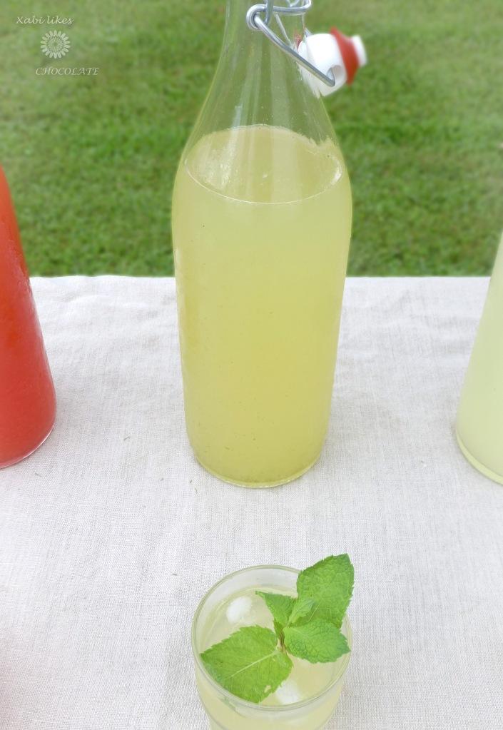 receta de limonada, limonada sin azúcar, limonada de jengibre, limonada de lima y menta, limonada de frambuesa, bebidas sin azúcar,