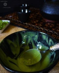 Helado de té verde Matcha