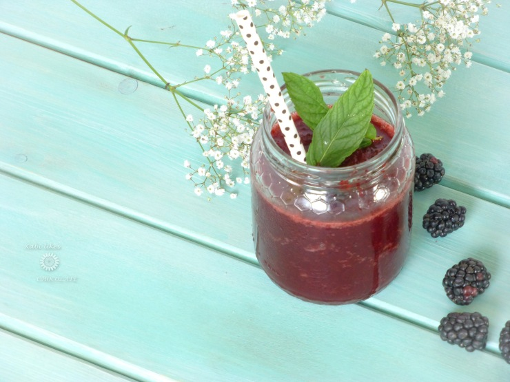 Granizado de mora, granizado sin azúcar, granita, blackberry granita, slush, shaved ice, bebidas sin azúcar, blog de repostería
