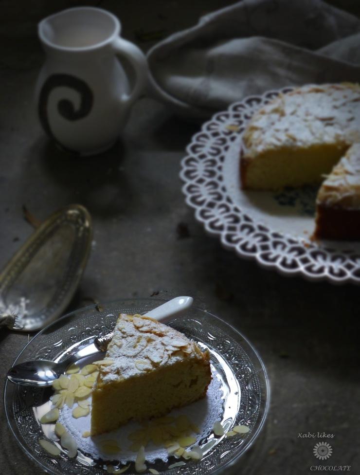 Bizcocho de requesón y almendra, pastel de ricotta y almendra, bizcocho sin gluten, receta sin gluten, bizcocho de almendra, bizcocho de requesón, blog de repostería