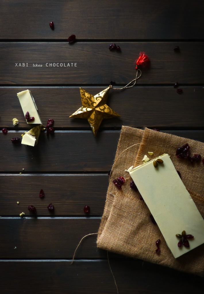Turrón de chocolate blanco, turrón de chocolate blanco pistacho y arándanos, turrón fácil, receta de turrón, turrón de chocolate, receta Navidad, turrón perfecto, blog de repostería