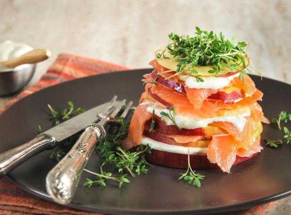 Ensalada de manzana y salmón_