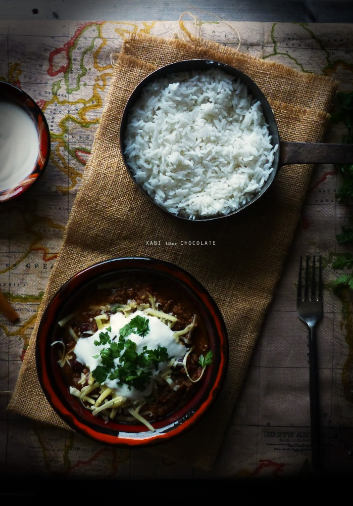 Receta Tex-Mex, Chili con Carne, receta, cocina, blog, estilismo culinario