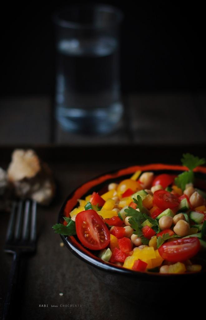 ensalada de garbanzos, chickpea salad, ponunaensalada, blog de cocina, recetas sanas, ensalada, food styling, photography