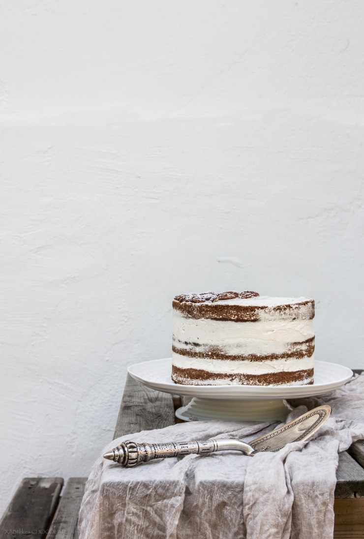 Naked Cake de Naranja y Calabaza, Naked Cake de Calabaza, Pumpkin Naked Cake, Pumpkin and Orange Naked Cake, Naked Cake, Birthday Cake, cumpleaños, calabaza y naranja, blog, gastroblog, receta, cocina, food photography, naked cake photography, food photographer, food styling