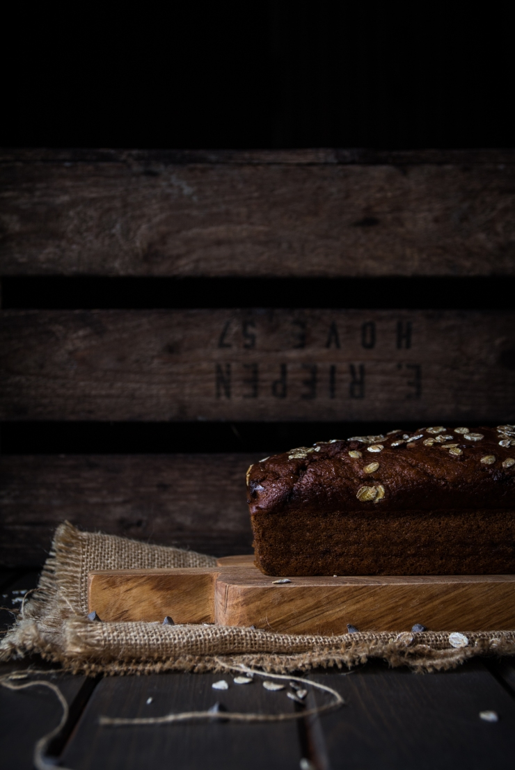 Wholemeal Pumpkin and Chocolate Bread, healthy, cake, butternut squash, chocolate, bizcocho, bizcocho integral, bizcocho calabaza, bizcocho calabaza y chocolate, pan de calabaza, fotografía culinaria, estilismo culinario, bizcocho fotografía, food photographer, food photography, photography