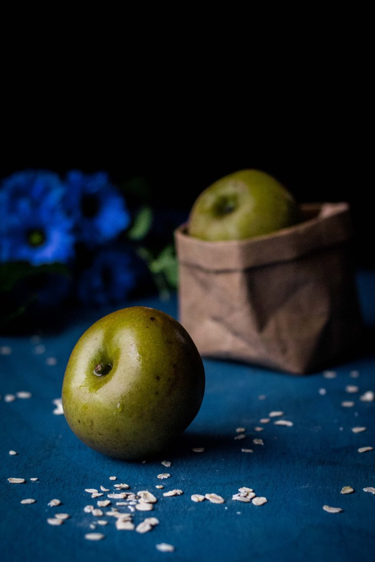 apple, green, blue background, cooking, manzana, azul, Cooking-apple-blue
